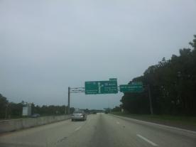 On the I-95 N, St Augustine FL to Savannah GA